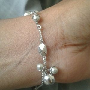 Authentic Christian Dior Silver Pearl Bracelet